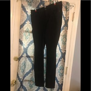 Express Black Mid Rise Skinny Jeans